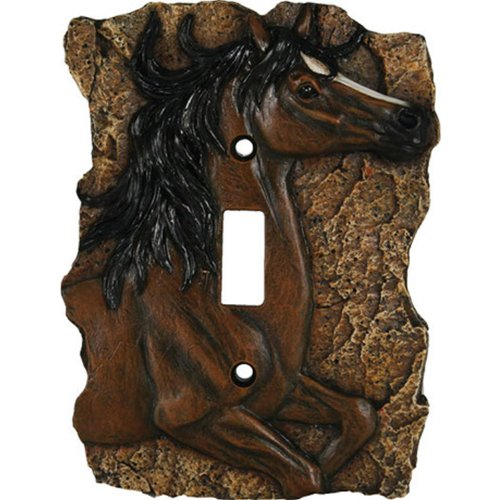 Rivers Edge Products Horse Single Switch Electrical Cover (Decor Switchplate)