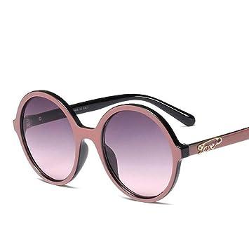 HYUHYU Moda para Mujer Gafas De Sol Redondas para Mujer Más ...