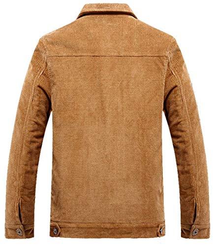 Da Giacca Velluto Dunkelblau Vintage Per Cappotto In A Uomo Multitasche Coste Giovane 7xd5w4qPYS