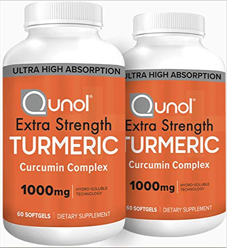 Qunol Turmeric Curcumin Softgels, Qunol with Ultra High Absorption 1000mg, Anti-Inflammatory, Dietary Supplement, Extra Strength, 120 Count Review