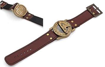 Reloj solar de pulsera con brújula Go Confidently con cita grabada inspiradora: Amazon.es: Hogar