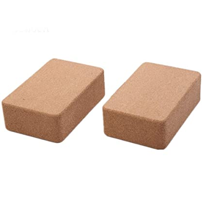 Amazon.com : Hyue Yoga Bricks Cork Yoga Brick Yoga Blocks ...