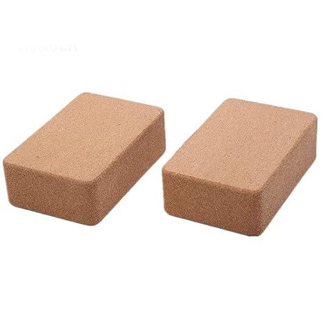 Amazon.com : FENXIMEI Cork Yoga Brick, Cork Handstand Block ...