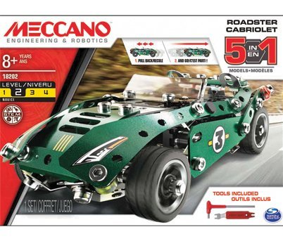 Sports Car Pull-Back Roadster Cabrio Pullback 5 in 1 –  Meccano –  Kit Art.Various –  Mounting kit Meccano*