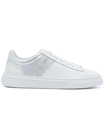 c29df307c36a Hogan - Zapatillas para Mujer Blanco Weiß IT - Marke Größe, Color Blanco,  Talla 39.5 IT - Marke Größe 39.5  Amazon.es  Zapatos y complementos