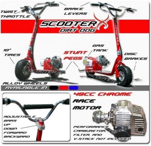 Dirt Dog - BLUE - 49cc Gas Powered Scooter