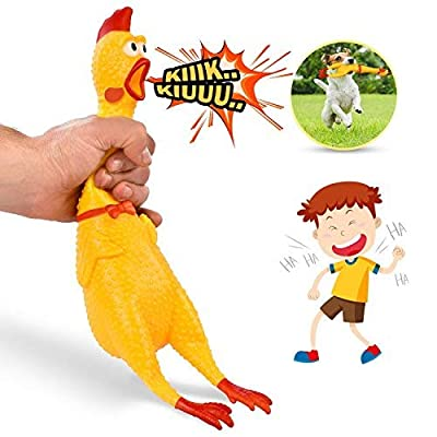 LEGEND-SANDY-Screaming-ChickenYellow-Rubber-Squaking-Chicken-Toy-Novelty-and-Durable-Rubber-Chicken-for-Kids-and-DogsRubber-Chickens-Value-3-Pack
