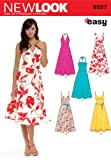 New Look Sewing Pattern 6557 Misses Dresses, Size A (8-10-12-14-16-18)