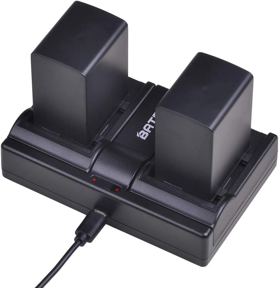 Batmax 2X BP-828 Batteries + Dual Battery Charger for Canon VIXIA GX10, HFG20, HF G21, HFG30, HFG40, HFM30, HFM31, HFM32, HFM300, HFM301,VIXIA HF G40, HF G30, XA20, XA25 Camcorders