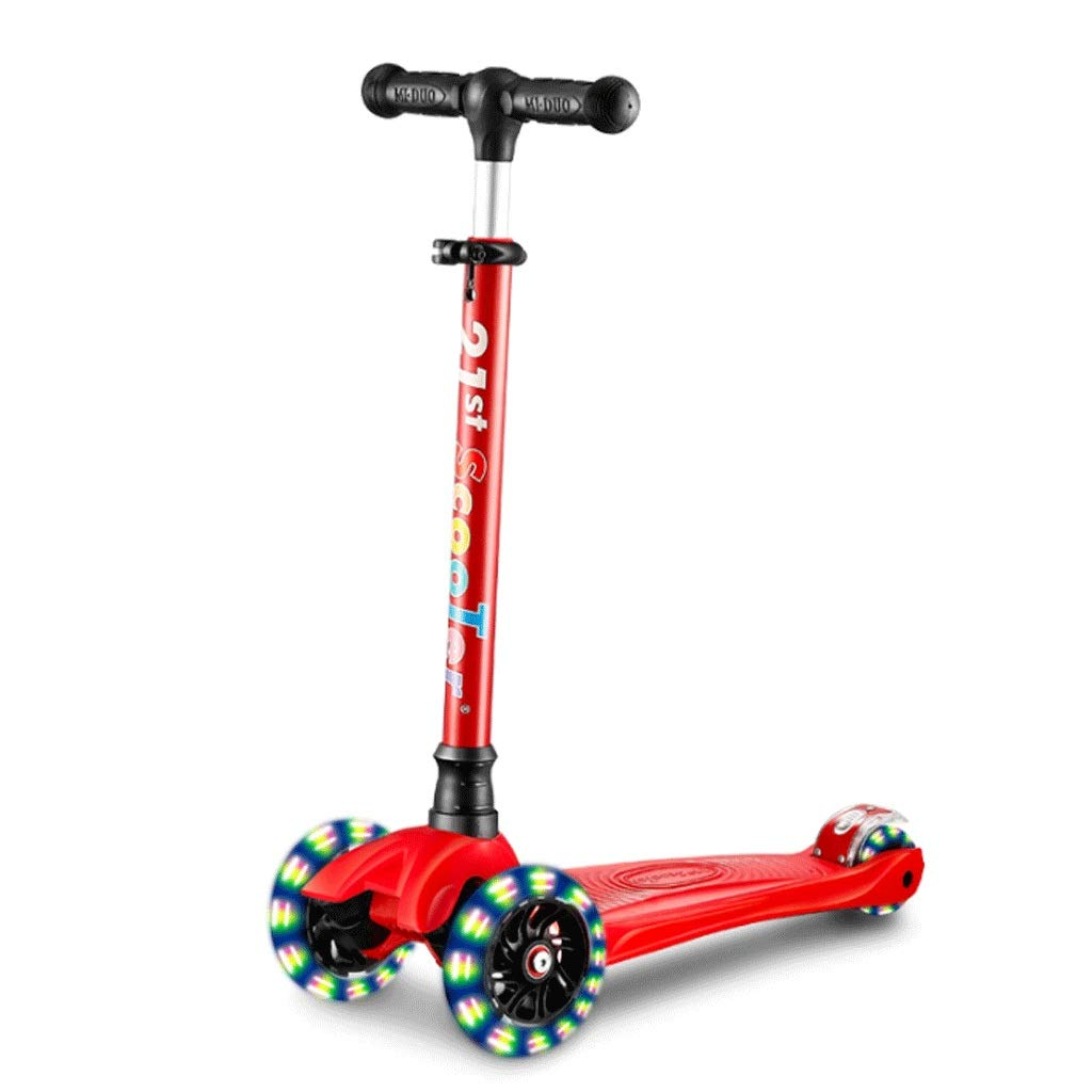 WangYi スケートボード- 2-12歳に適した三輪フラッシュホイールの子供用スクーター (色 : 青, サイズ さいず : 57x25x90cm) B07NV9QCV5 57x25x90cm|Red Red 57x25x90cm