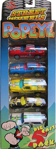 Racing Champions Street Wheels Popeye Die Cast 5 Pack