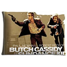 Body pillow Cases Zippered Polyester Cotton Fresh Butch Cassidy and the Sundance Kid No Ironing 16x24 inch 40x60 cm