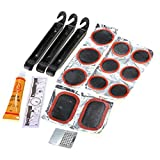Tire Repair Kits - SODIAL (R) Bike Tire Repair Kits Multifunctional piercing set Maintenance Tool Unit threw Rubber Tyre Lever Cold solution Patch