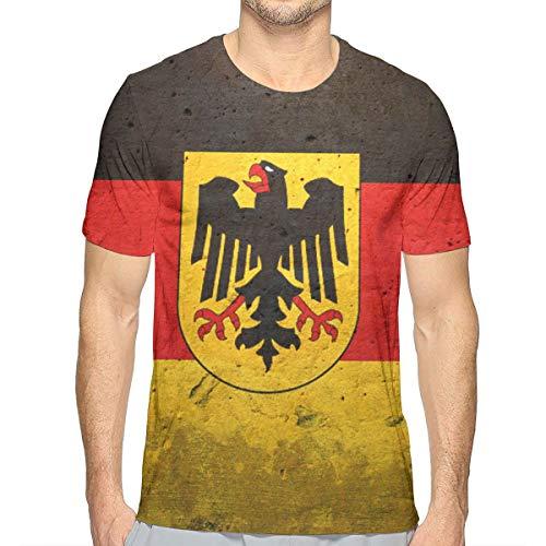 - Edtgfgsi Mens T-Shirt, German Eagle Flag Round Neck Short-Sleeve Lightweight Soft T-Shirts