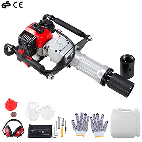 9TRADING 2 Stroke 33cc Gas Powered T-Post Driver Heavy Duty Gasoline Push Pile Pro Kit,Free Tax,Delivered within 10 days
