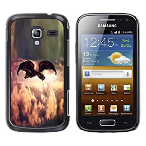 LECELL--Funda protectora / Cubierta / Piel For Samsung Galaxy Ace 2 I8160 Ace II X S7560M -- Painting Indie Rock Feather God --