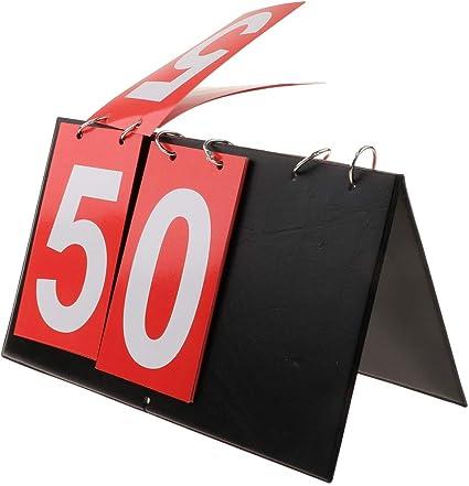 Portable Scoreboard Score Keeper Portable 4 Digital Sports Flip Score Record