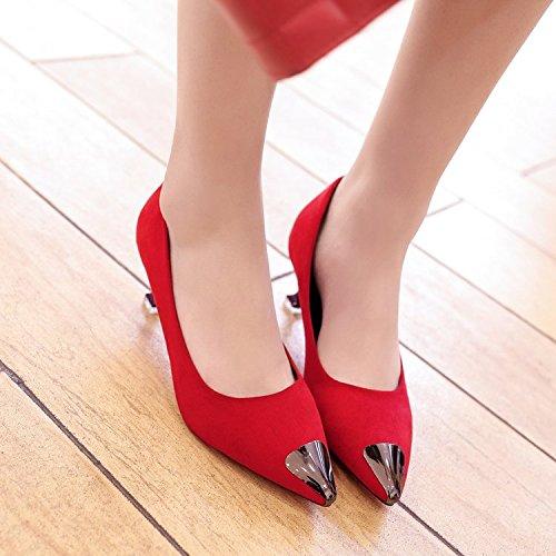 Xue Qiqi Tipp des high-heel Schuhe satin light Eisen Eisen Eisen Kopf einzelne Schuhe gut mit Frauen mit Schuhen. 08abaf