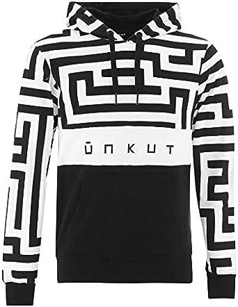Unkut Sweat à Capuche Block Noir: : Vêtements et