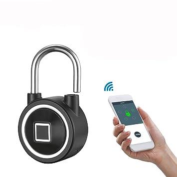 ... IP65 Impermeable Candado Seguro al Aire Libre Táctil sin Llave Cerradura Seguridad Android/iOS App Support y Carga por USB: Amazon.es: Electrónica