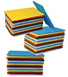 Colored Scrub Scouring Sponge Pads, Great for Kitchen dishwashing ,Pot Cleaning Dish Scrunge ,''Set Of 45'' Size 5 3/4'' x 3 3/4''
