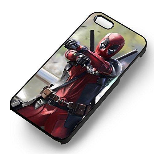 Deadpool Shooting pour Coque Iphone 6 et Coque Iphone 6s Case (Noir Boîtier en plastique dur) U5F1ZR