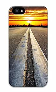 Unique Design Cases for iPhone 5 3D Road Sunset Cover