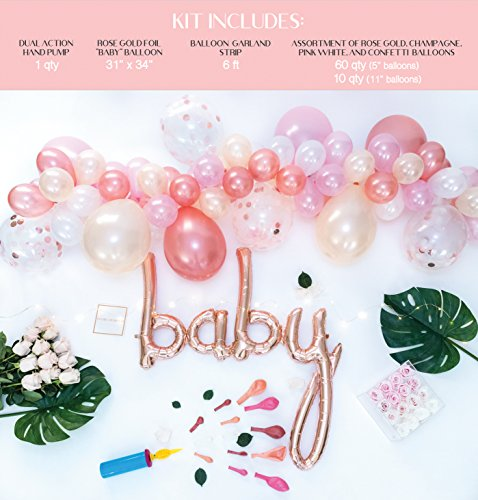 Baby Shower Decorations for Girl | Baby Girl Party Supplies| It's a Girl | Balloon Garland with 72 Balloons 11