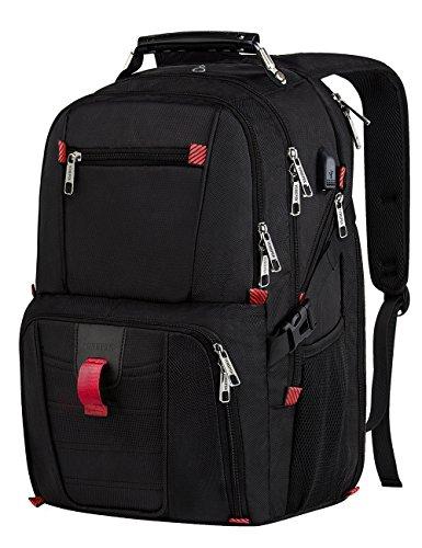 Travel Outdoor Computer Backpack Laptop Bag (Black) - 4