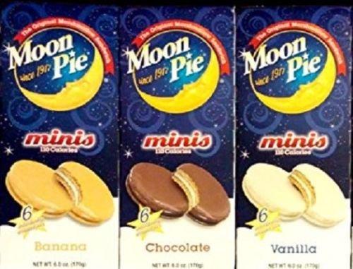 Moon Pie Mini Variety Pack - Chocolate, Banana, and Vanilla ()