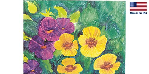 Pansy Note Card - THASC Blank Note Card Shaded Pansies_QTY_12