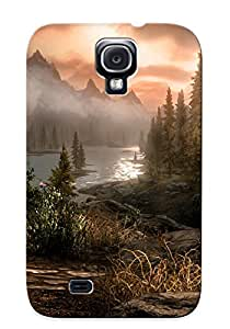 ADf302HRSLn Exultantor Skyrim Elder Scrolls Landscape Mountains Lake Feeling Galaxy S4 On Your Style Birthday Gift Cover Case