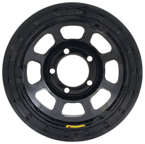 Bassett Wheel D Hole Lightweight Beadlock Black Powder Coat   15 X 8 Inch Wheel
