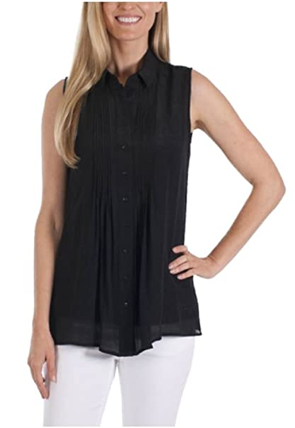 3d4af365de2d6a Fever Ladies' Sleeveless Blouse with Matching Detachable Camisole at Amazon  Women's Clothing store: