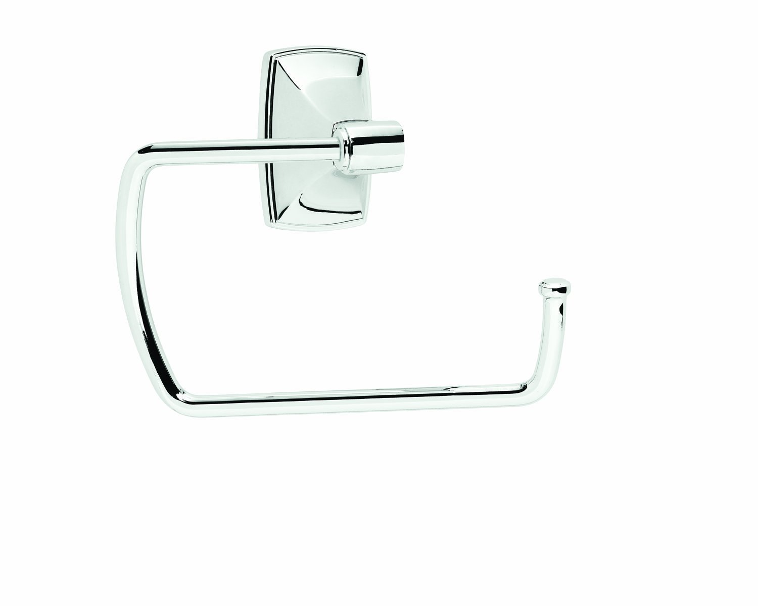 Amerock BH26501-26 Clarendon Collection Towel Ring, Polished Chrome