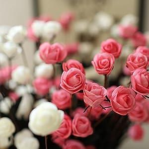 15 Heads Artificial Spring Silk Flowers Camellia Magnolia Floral Wedding Peony Arrangement Bouquet Hydrangea (5 Pcs) 3