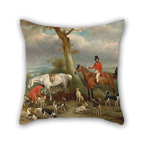 Throw Pillow Covers 20 X 20 Inches / 50 By 50 Cm(two Sides) Nice Choice For Couch Relatives Club Living Room Kitchen Wife Oil Painting John Ferneley - Thomas Wilkinson, -