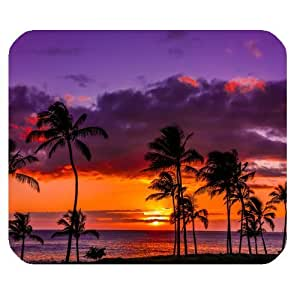 Fantasy Hawaiian Sunset Scene Personalized Rectangle Mouse Pad by ruishername