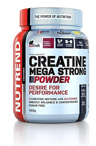 Nutrend CREATINE MEGA Strong Powder 500g L-glutamine Sugar Free Muscle Increase Strength Pineapple Flavor
