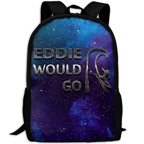 Eddie Would Go Steel Effect Unique Outdoor Shoulders Bag Fabric Backpack Multipurpose Daypacks For - Eddie Sunglasses
