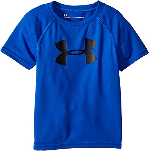 Complete Toddler System - Under Armour Toddler Boys' Big Logo Short Sleeve Tee Shirt, Dark Blue, 3T