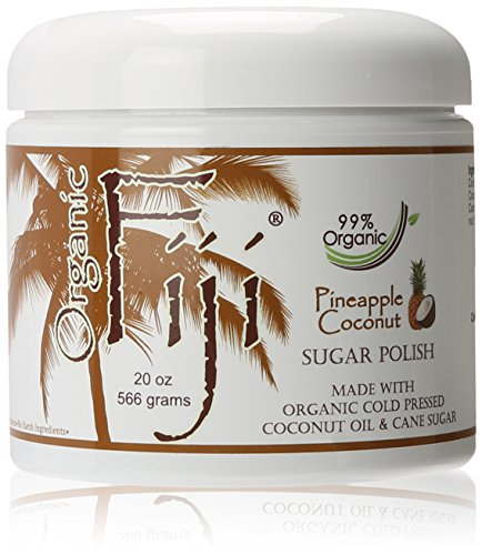 Organic Fiji Sugar Polish, Pineapple Coconut, 20-Ounces