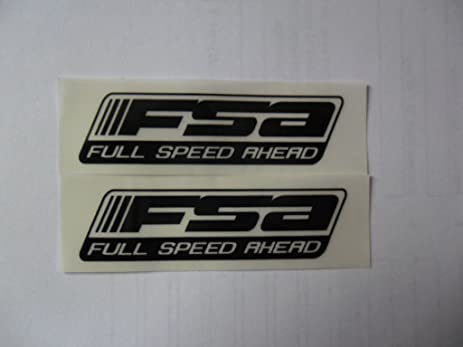 Fsa full speed ahead black on clear 2 5 bike bicycle black bike vinyl decal weather