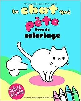 Le Chat Qui Pete Livre De Coloriage Super Mignon Kawaii