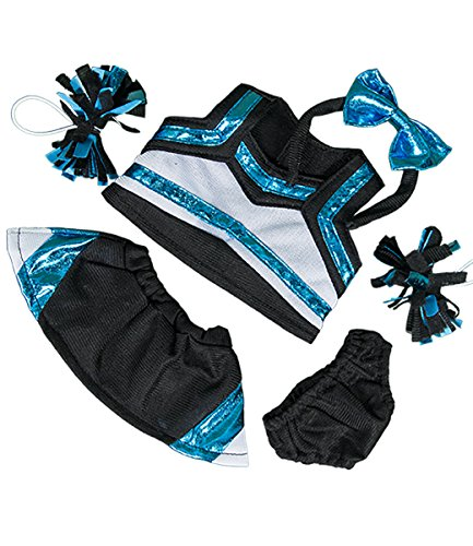 Metallic Teal & Black Cheerleader Outfit Fits Most 8