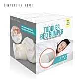 SimplyLife Home Child Bed Rail Bumper, Portable Non-Skid Sleep Foam Railing Guard for Infants Toddlers Kids, Travel Size Safety Side Pillow Pad (Memory Foam)