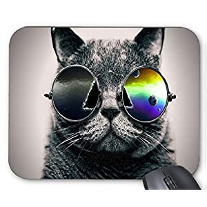 Cool Cat Wear Sunglasses Print Mouse Pad