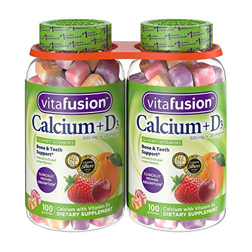 Vitafusion Calcium Gummies, 500 mg (2 Pack, 200 ct.)