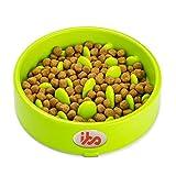 IBO Tazon de Alimentacion Lenta Comedero Mascotas Plato para Comida de Perro y Gatos, Verde