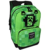 "JINX Minecraft Creepy Creeper Kids Backpack (Green, 17"") for School, Camping, Travel, Outdoors & Fun"